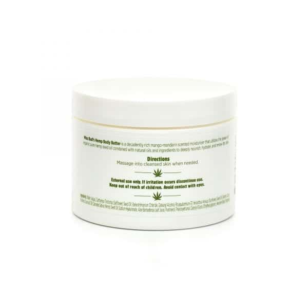 Miss Bud's Hemp Body Butter back