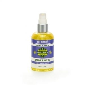Uncle Bud's Hemp Massage & Body Oil