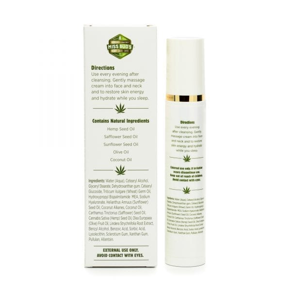 Miss Bud's Hemp Night Time Nourishing Cream back