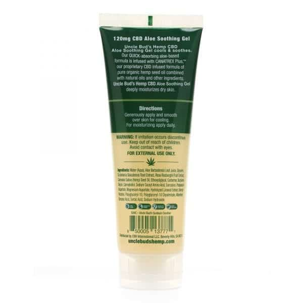 Uncle Bud's Hemp Aloe Soothing Gel Back