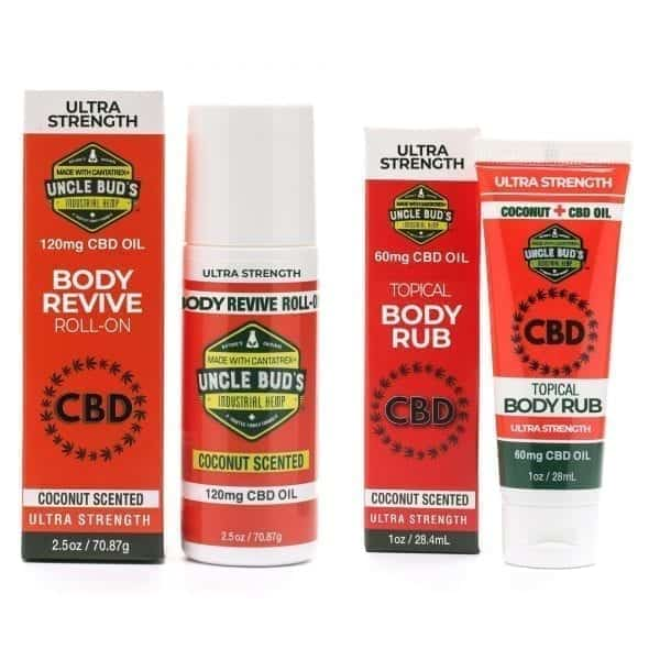Uncle Bud's CBD Body Revive Roll-on Topical Body Rub