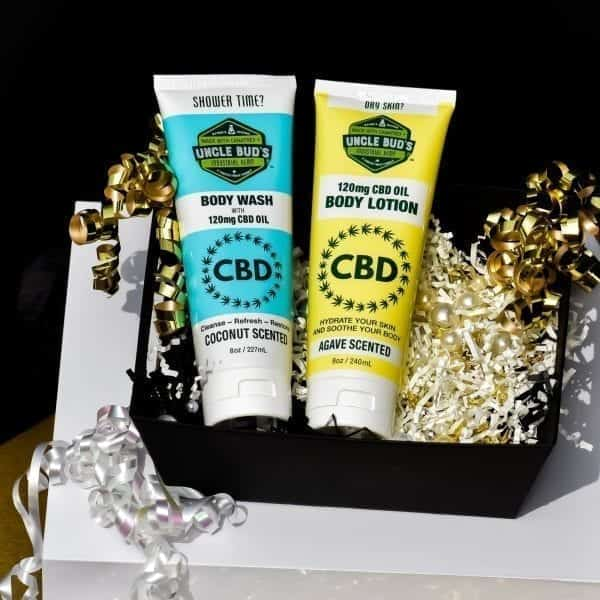 Uncle Bud's CBD Body Wash Body Lotion Gift Pack