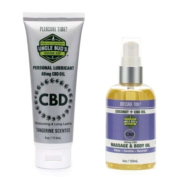 Uncle Bud's CBD Personal Lubricant CBD Massage and Body Oil