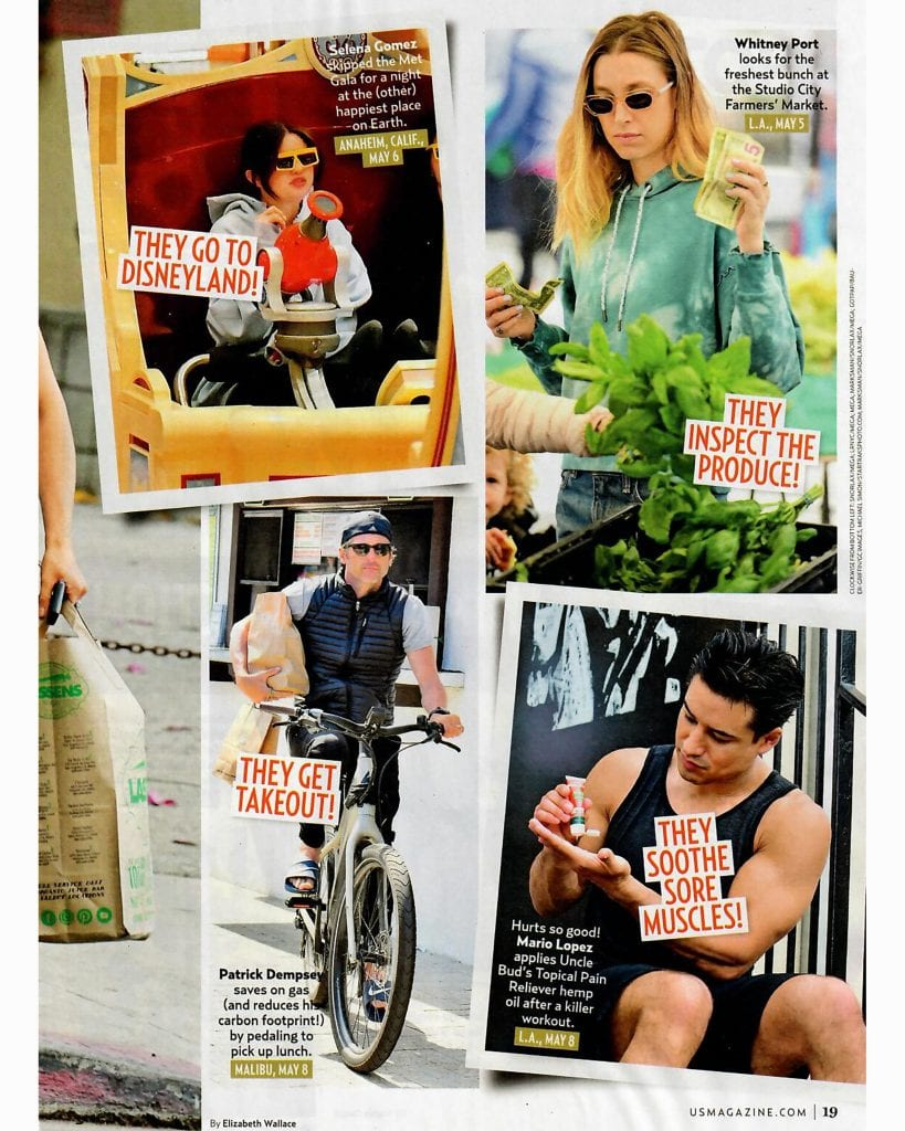 Uncle Bud's Topcial Pain Relief Mario Lopez US Magazine