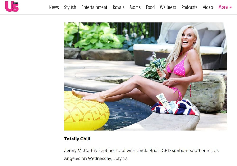 Jenny McCarthy Uncle Bud's CBD Sunburn Soother