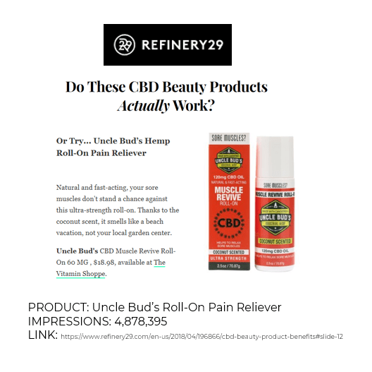 Refinery29 Do These CBD Beauty Products Actually Work? Uncle Bud's CBD Muscle Revive