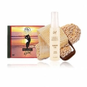 No Lipo Lipo DVD (PAL for Europe, Middle East) & Sisal Louffas + NOURISHING E OIL-0