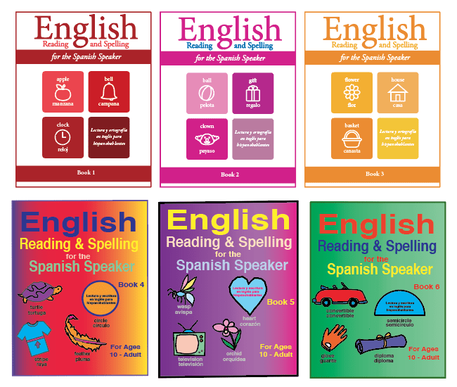 English reading and spelling for teens and adults ESL workbooks