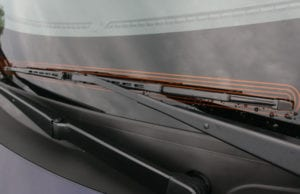 auto glass features heated wiper